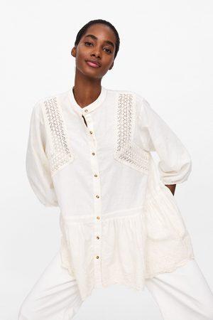 Zara Mujer Blusones - Túnica bordados