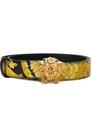 VERSACE Mujer Cinturones - Cinturón con estampado de flor de Jamaica