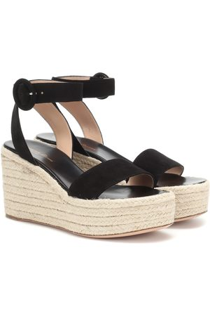 Gianvito Rossi Exclusive to Mytheresa – 45 suede espadrille wedges