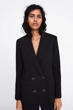 Zara Mujer Sacos - Blazer cruzada