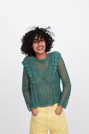 Zara Jersey crochet calado