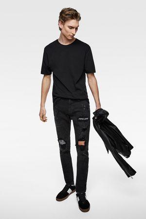 Zara Hombre Slim y skinny - Denim skinny parche bandana