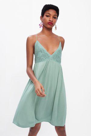 Zara Vestido combinado tirantes