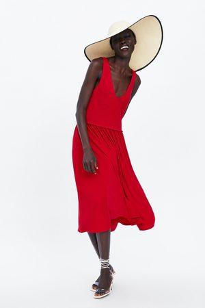 Zara Mujer Midi - Vestido midi combinado