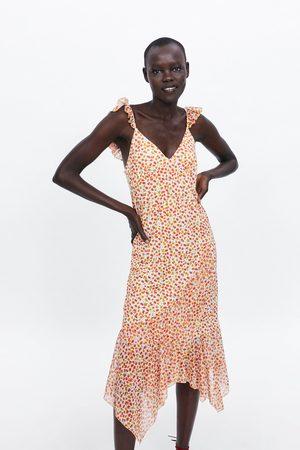 Zara Mujer Estampados - Vestido volante floral