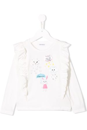 Simonetta Niña Tops - Ruffled long sleeve top