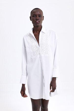 Zara Túnica popelín bordado