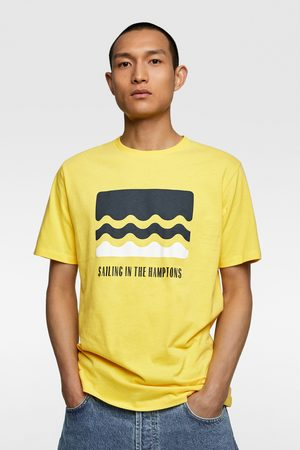 Zara Camiseta estampación frontal