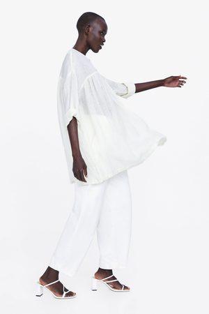 Zara Blusa oversize lino