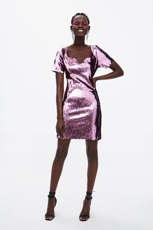 mejor selección asombrosa recogido Vestido lentejuelas
