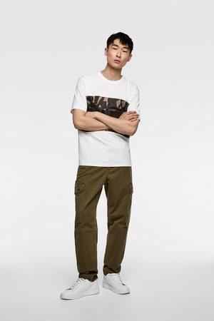 Zara Camiseta bandas camuflaje