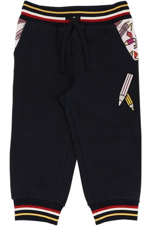 Dolce & Gabbana Niña Pantalones - Pantalones Deportivos De Algodón Con Estampado