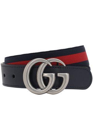 Gucci Cinturón Elástico Con Piel