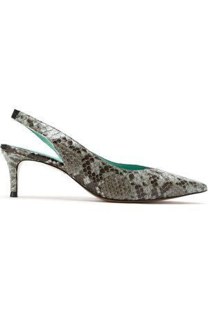 Blue Bird Shoes Zapatillas con tira trasera y efecto de piel de pitón
