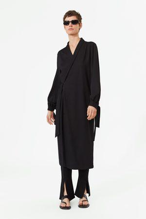 Zara Mujer Camiseros - Vestido camisero cruzado