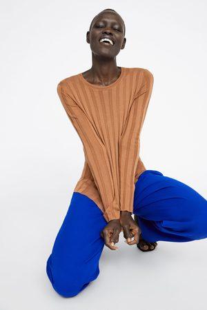 Zara Mujer Suéteres - Jersey canalé