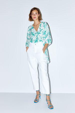 Zara Jeans z1975 high rise cropped