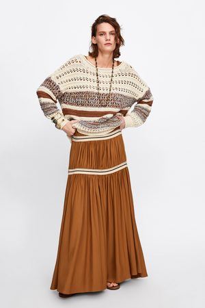 Zara Mujer Suéteres - Jersey oversize combinado