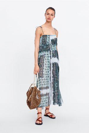 Zara Mujer Estampados - Vestido estampado tirantes