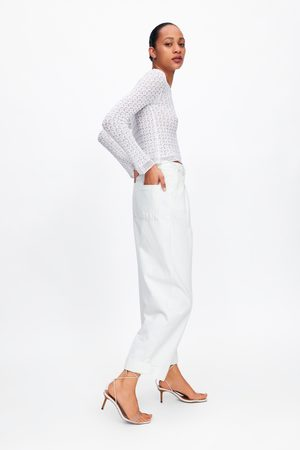 Zara Mujer Suéteres - Jersey punto pointelle