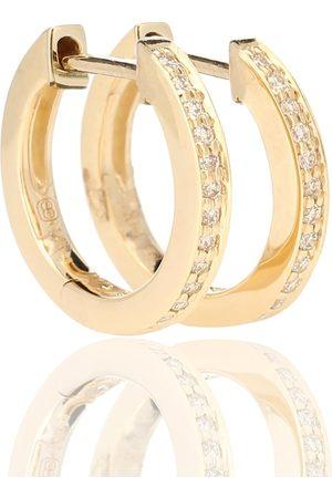 Sydney Evan Huggie 14kt and diamond earrings
