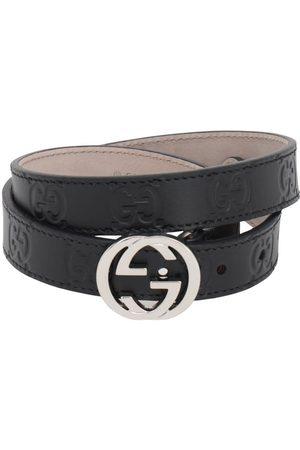 Gucci Cinturón De Piel Con Logo Grabado