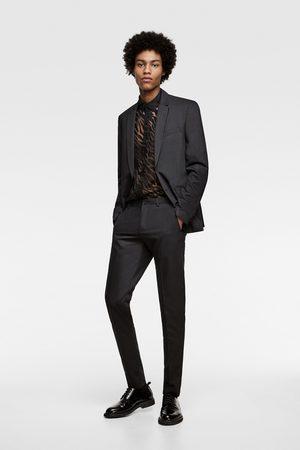 Zara Hombre Camisas - Camisa jacquard semitransparente