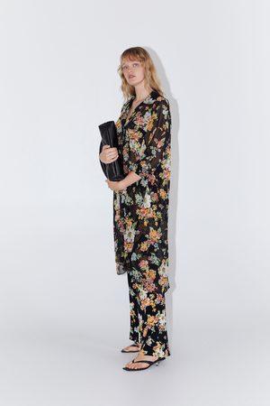 Zara Pantalón estampado flores