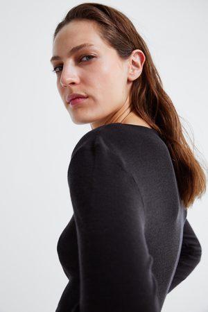 Zara Mujer Playeras - Camiseta lana premium