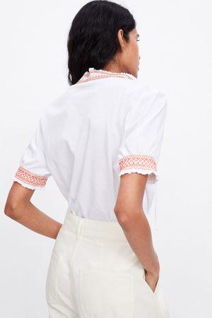 Zara Camiseta elásticos combinados