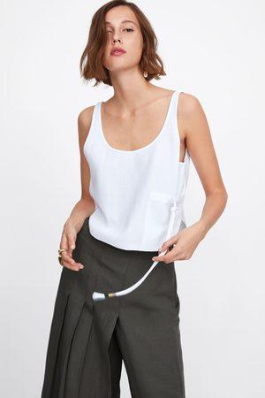 Zara Top bolsillo cordón