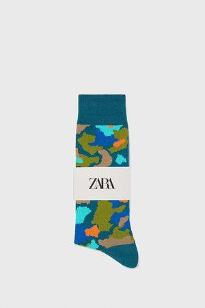 Zara Calcetín mercerizado jacquard camuflaje