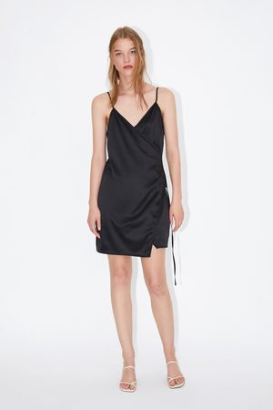 Zara Mujer Vestidos - Vestido satinado cruzado