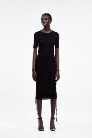 Zara Vestido ajustable cordón