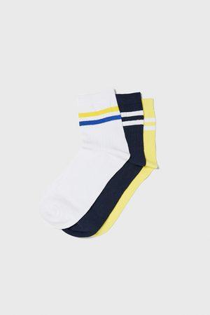 Zara Hombre Calcetines - Pack calcetines canalé bandas