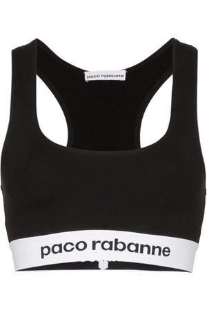 Paco rabanne Bra deportivo con banda del logo