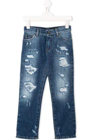 Dolce & Gabbana Jeans rectos con efecto envejecido
