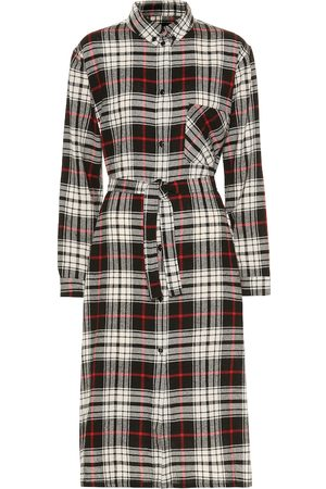 Woolrich Checked wool-blend shirtdress