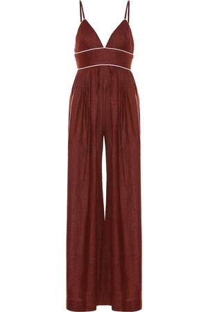 Staud Figue wide-leg linen jumpsuit