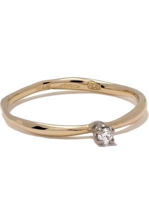 WOUTERS & HENDRIX Anillo con diamantes en oro blanco y oro amarillo de 18kt