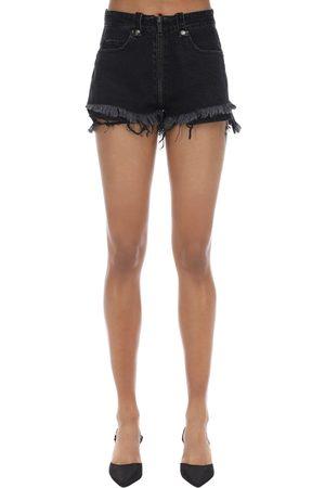 UNRAVEL Shorts De Denim De Algodón Con Cremallera