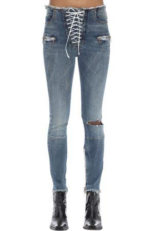 UNRAVEL Mujer Slim y skinny - Pantalones Skinny De Denim Con Cremallera