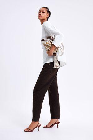 Zara Mujer Blusas - Blusa algodón encaje
