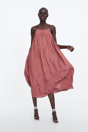 Zara Vestido lencero largo