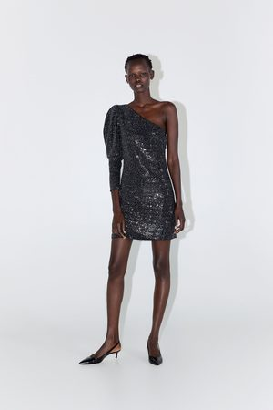Zara Vestido asimétrico lentejuelas