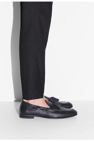 Zara Mocasín trenzado negro