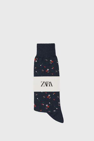 Zara Calcetín mercerizado jacquard floral