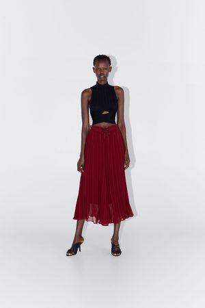 Zara Pantalón culotte plisado