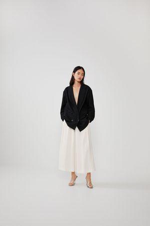 Zara Pantalón culotte rústico