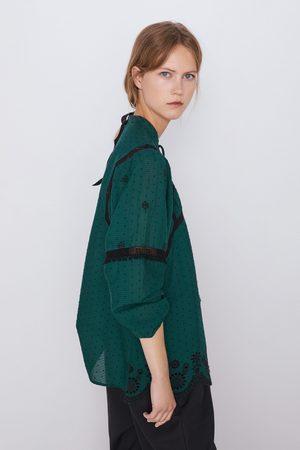 Zara Blusa bordados